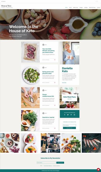 Diet Blog Website Template