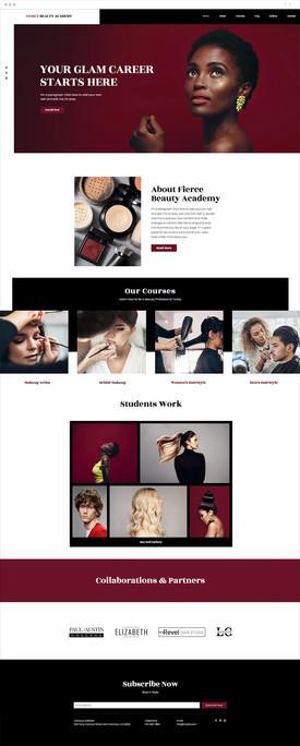 Beauty Academy Website Template