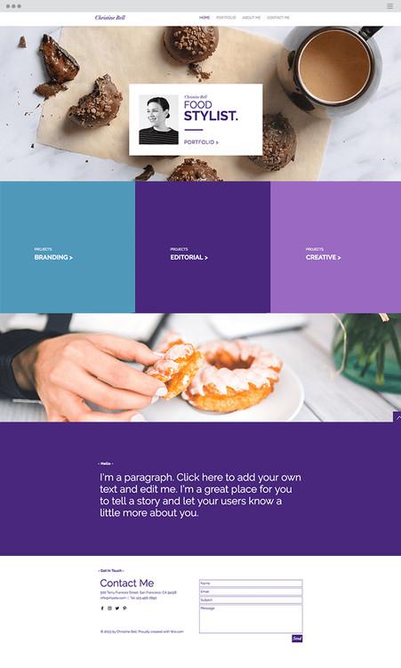 Food Stylist Website Template