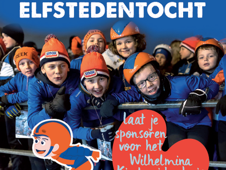 Zaterdag 1 februari : Jeugdelfstedentocht + sponsor actie Wilhelmina Kinderziekenhuis