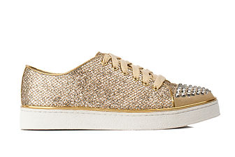 Gold and Silver Canvas Shoes
