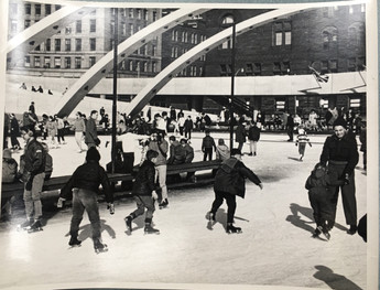 """Nathan Phillips Square."" Toronto, 1960. Fonds 351, File 1, Box 616127, Folio 1. City of Toronto Archives. Public Domain."