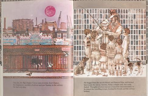 Keeping, Charles. Sammy Streetsinger. Oxford University Press, 1984. p.5-6. Ryerson University Library and Archives.