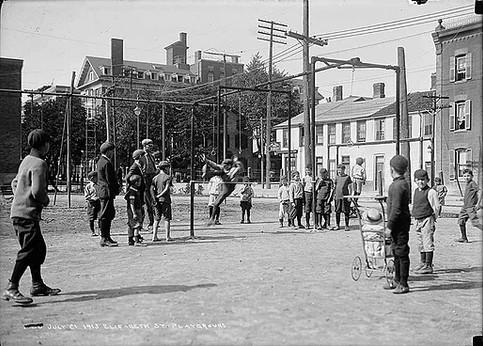 Elizabeth Street Playground Demonstration Day, Arthur Goss, August 21 st 1913, Fonds 200 Series 372, Subseries 52, Item 72, City of Toronto Archives