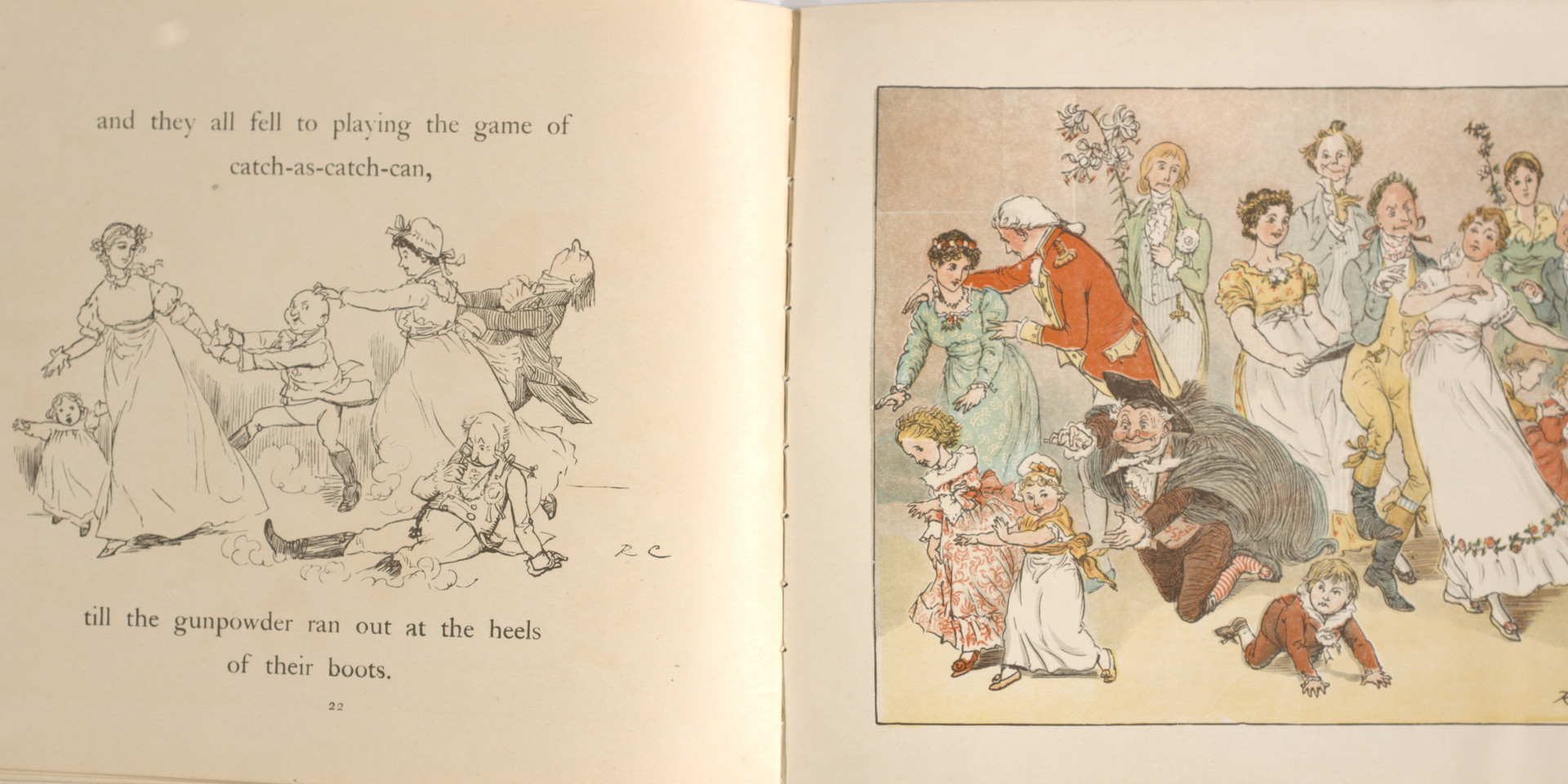Caldecott, Randolph. The Great Panjandrum Himself. Frederick Warne & Co., 1855. p.19-20. Ryerson University Library and Archives.