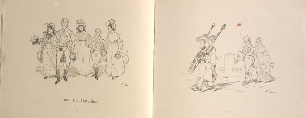 Caldecott, Randolph. The Great Panjandrum Himself. Frederick Warne & Co., 1855. p.13-14. Ryerson University Library and Archives.