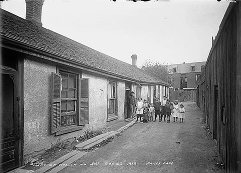Slum- Price's Lane, Arthur Goss, August 27th 1914, Fonds 200, Series 372, Subseries 32, Item 321, Department of Public Works Photographs, City of Toronto Archives