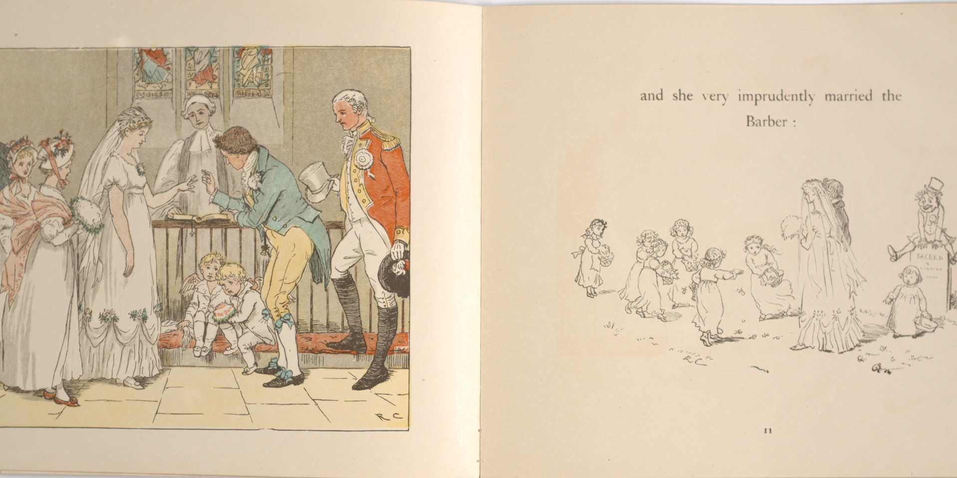 Caldecott, Randolph. The Great Panjandrum Himself. Frederick Warne & Co., 1855. p.7-8. Ryerson University Library and Archives.