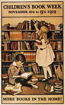 "Smith, Jessie Wilcox. ""Children's Book Week Poster."" The Osborne Collection of Early Children's Books, Toronto Public Library, Toronto, 1919,"