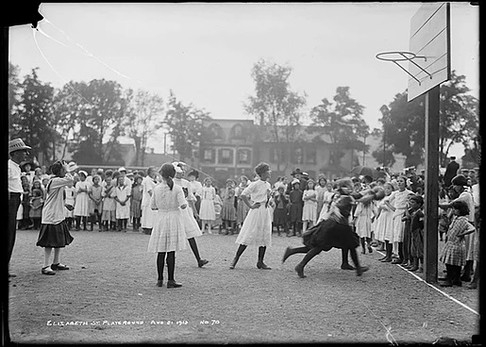 Elizabeth Street Playground, Arthur Goss, August 21 st 1913, Fonds 200, Series 372, Subseries 52, Item 70, Department of Public Works Photographs, City of Toronto Archives