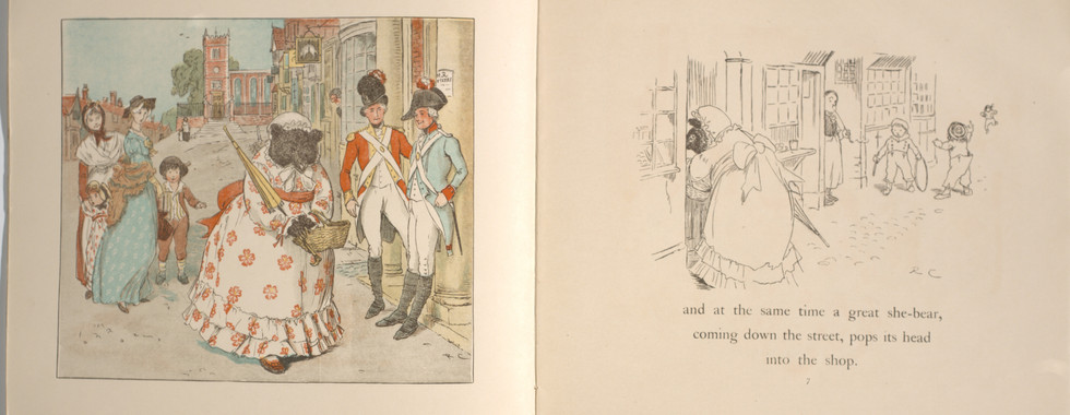 Caldecott, Randolph. The Great Panjandrum Himself. Frederick Warne & Co., 1855. p.3-4. Ryerson University Library and Archives.