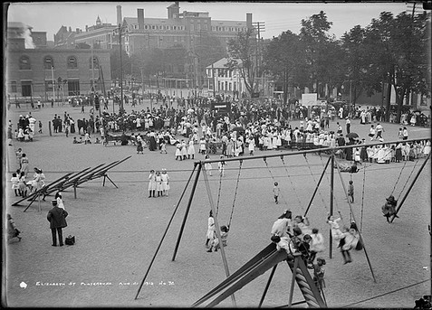 Elizabeth Street Playground Demonstration Day, Arthur Goss, August 21 st 1913, Fonds 200 Series 372, Subseries 52, Item 72, City of Toronto Archives