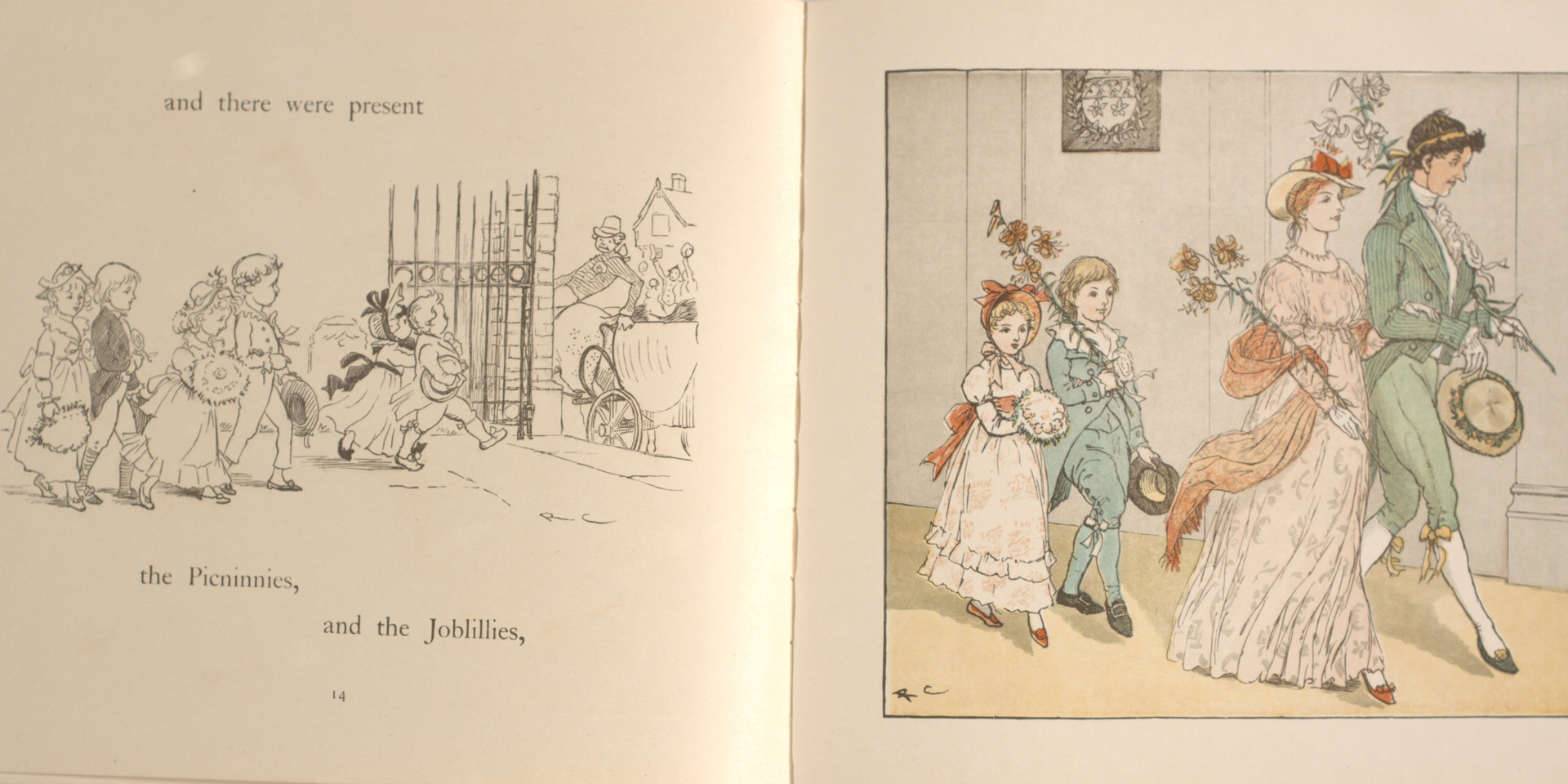 Caldecott, Randolph. The Great Panjandrum Himself. Frederick Warne & Co., 1855. p.11-12. Ryerson University Library and Archives.