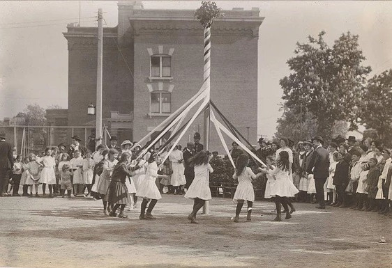 Maypole Dance Spring Festival, Photographer Unknown, 1913, Fonds 1005, Item 7, City of Toronto Archives