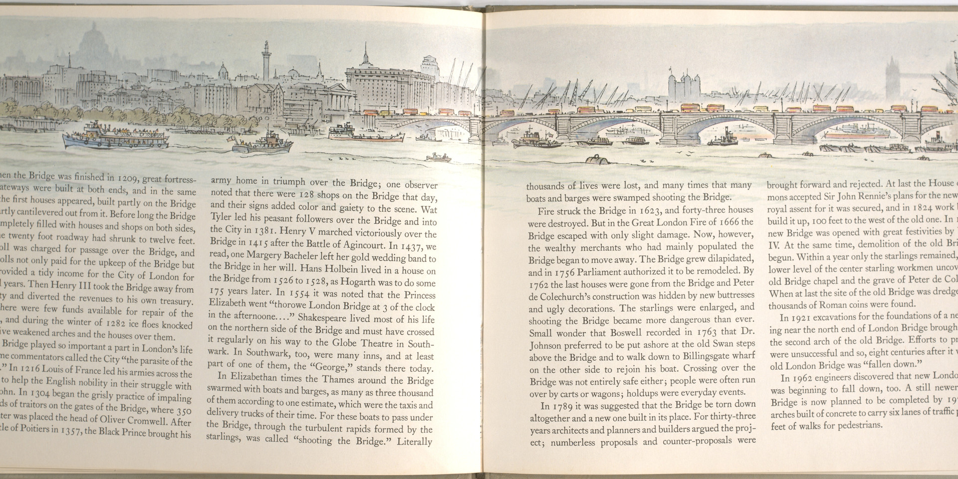 Spier, Peter. London Bridge Is Falling Down. Doubleday Books for Young Readers, 1985. p. 40-41. Ryerson University Library and Archives.
