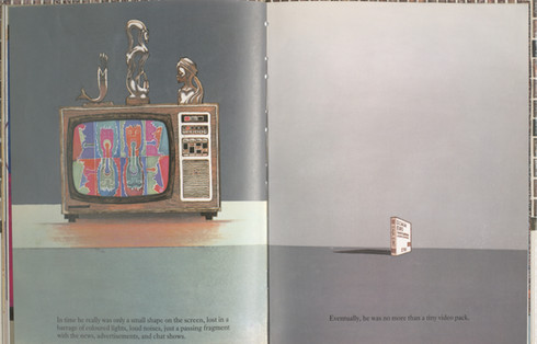 Keeping, Charles. Sammy Streetsinger. Oxford University Press, 1984. p.21-22. Ryerson University Library and Archives.