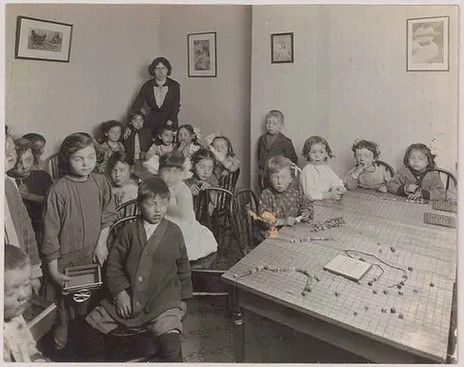 Central Neighborhood House: Children's Hour, Photographer Unknown, 1913, Fonds 1005, Item 9, City of Toronto Archives