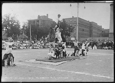 Elizabeth Street Playground Festival Gymnastics Display, Arthur Goss, August 11 th 1917, Fonds 200, Series 372, Subseries 52, Item 690, City of Toronto Archives