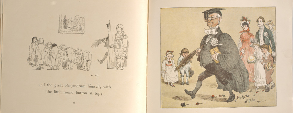 Caldecott, Randolph. The Great Panjandrum Himself. Frederick Warne & Co., 1855. p.15-16. Ryerson University Library and Archives.