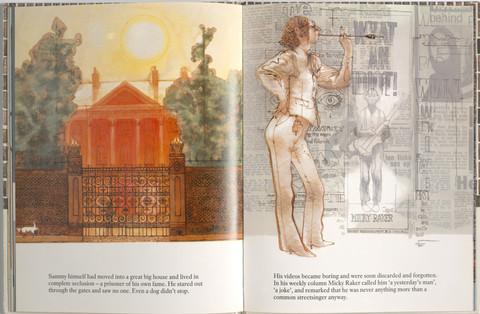 Keeping, Charles. Sammy Streetsinger. Oxford University Press, 1984. p.23-24. Ryerson University Library and Archives.