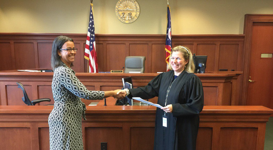 With Magistrate Elisa Hill