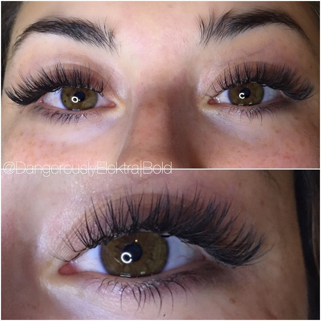 Semi dramatic volume lashes