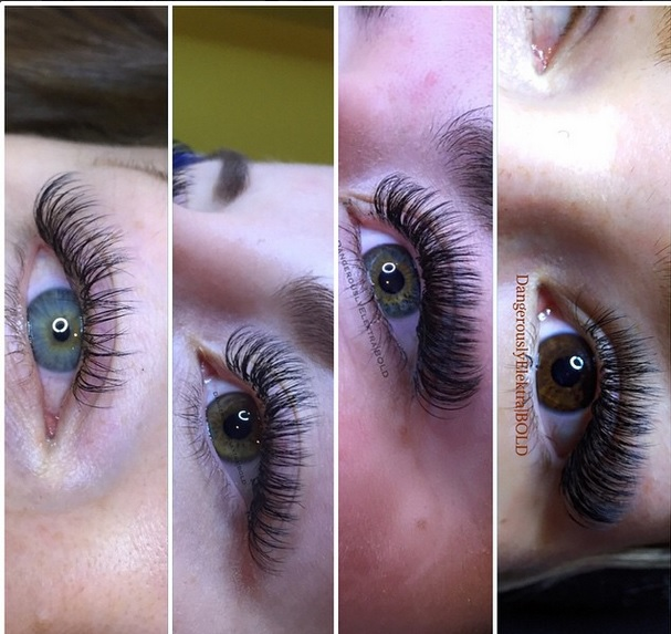Different volume lashes