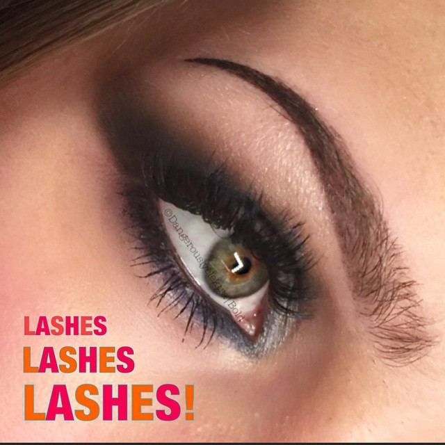 Volume lashes and makeup
