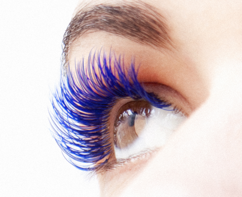 Blue lashes