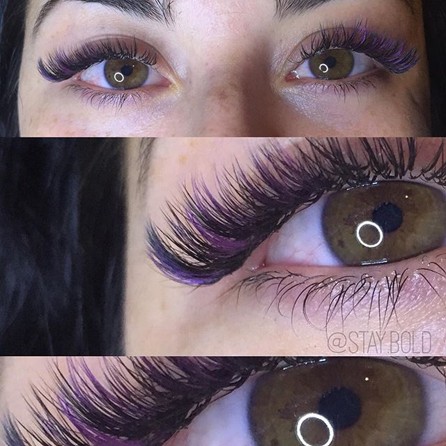 Purple and black lash mix