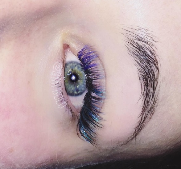 Colored lashes