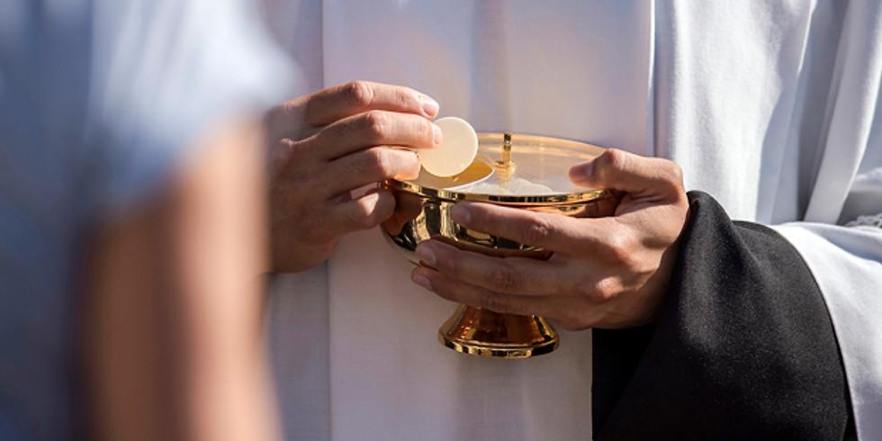 messe dominicale avec 1e communion de 4 enfants