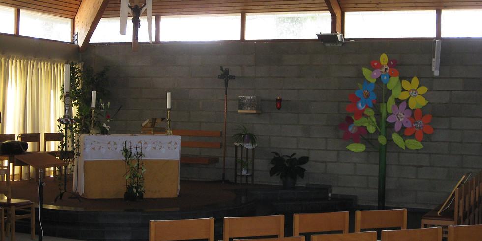 Messe dominicale  sur inscription 9h45