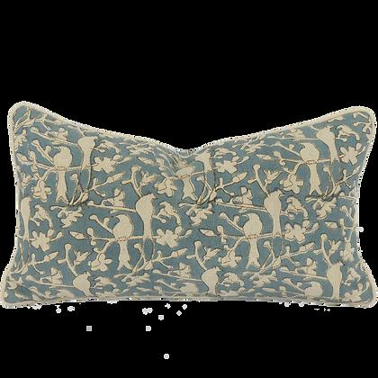 25/45cm Birds in Blossom linen accent pillow