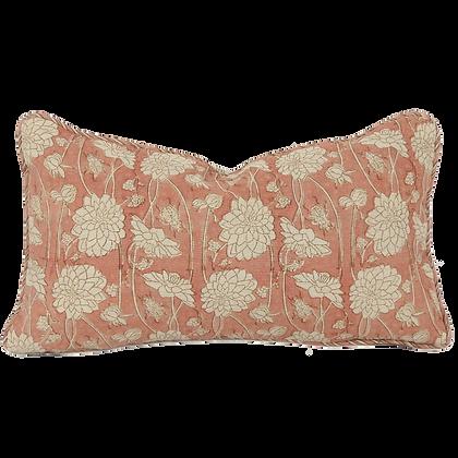25/45cm Dahlia & Beetles linen accent pillow