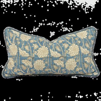 25/45cm Dahlia & Beetles Khadi accent pillow