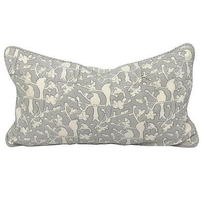 25/45cm Birds in Blossom Khadi accent pillow