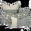 Thumbnail: 35/80cm Dahlia & Beetles linen lumbar cushion
