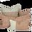Thumbnail: 25/45cm Snails in Leaves linen accent pillow