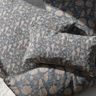Our linen Indigo cushions.