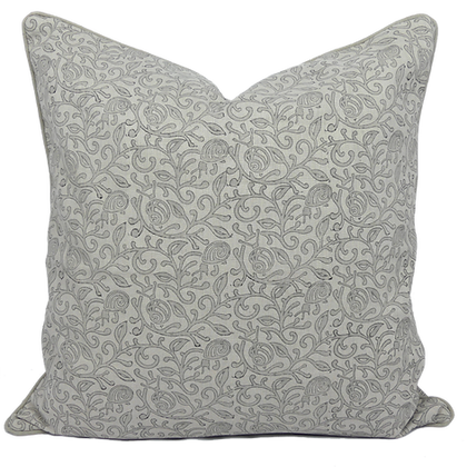 60cm Snails in Leaves linen cushion cover