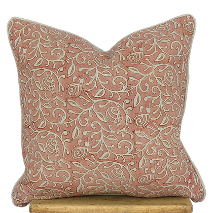 40cm Snails in Leaves linen cushion cover