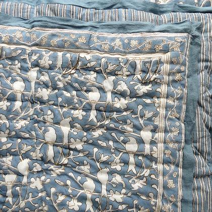 Birds in Blossom Indigo quilt