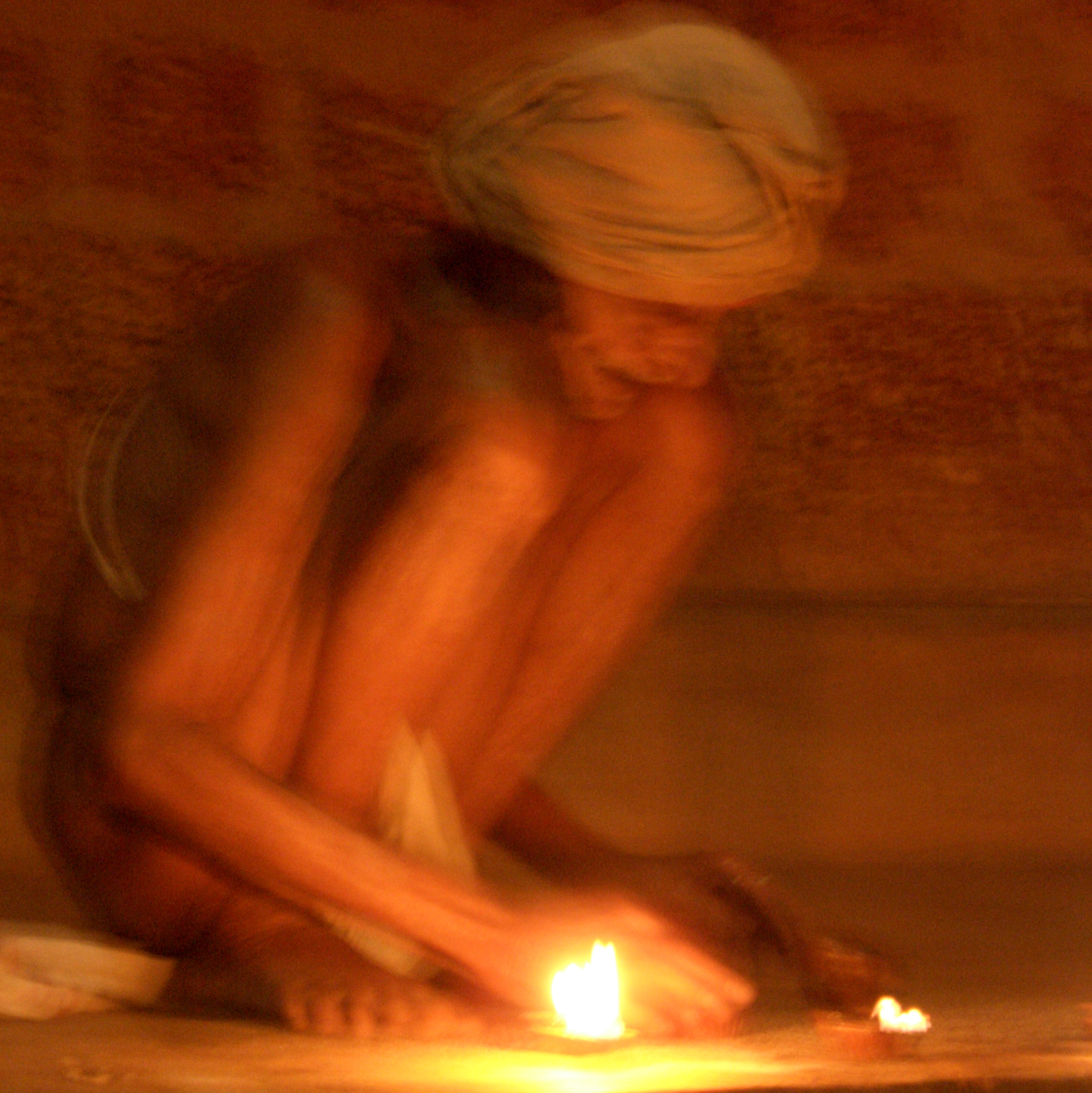 Turbaned man. Gokarna