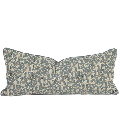 35/80cm Birds in Blossom linen lumbar cushion