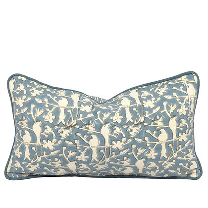 25/45cm Birds in Blossom Khadi accent pillow