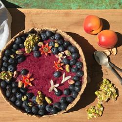Summer baking. Buckwheat & Blueberry