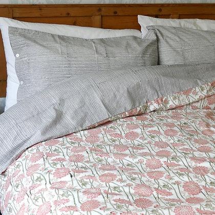 Dahlia & Beetles Pure cotton duvet cover set