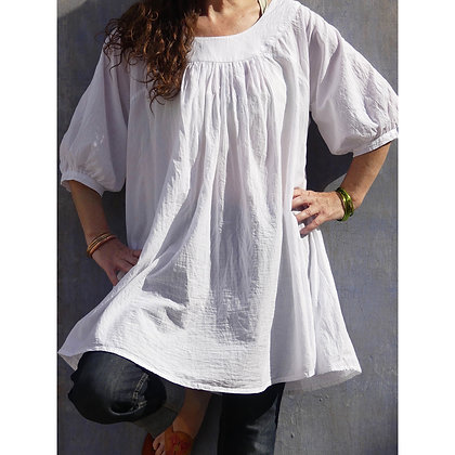 Pure cotton Painter's Smock. Super cool, floaty, easy fit with deep pockets