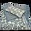Thumbnail: 25/45cm Dahlia & Beetles Khadi accent pillow